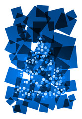 christmas abstract blue