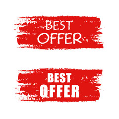 best offer on red drawn banner
