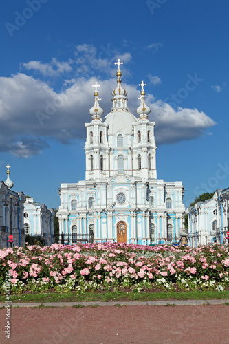 Smolny cathedral, Saint-Petersburg, Russia