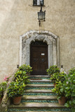 Potted plants on steps of a building, Ravello, Amalfi Coast, Salerno, Campania, Italy