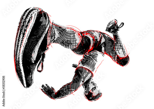 breakdancer illustration 2