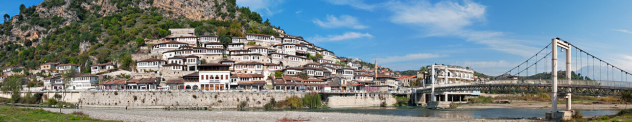 Historic district of Berat on the Osum River