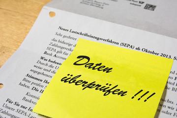 SEPA - Kontodaten überprüfen