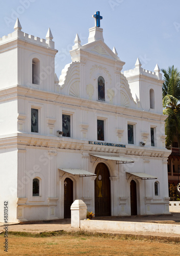 Facade of a church, Goa, India