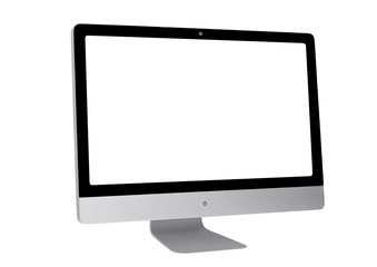 Modern computer. White Screen