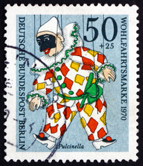 Postage stamp Germany 1970 Pulcinella, Puppet