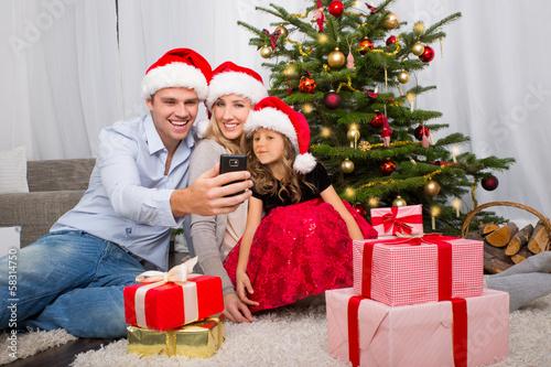 christmas family home