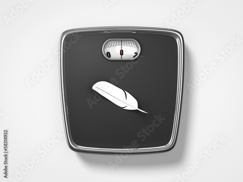 weight scale feather icon