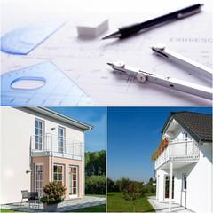 Haus entwerfen -Bauplan mit Haus