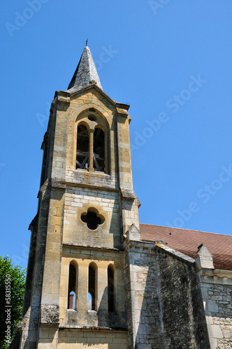 France, Peyrillac et Millac church in Dordogne