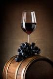 Wine goblet and barrel - Fine Art prints