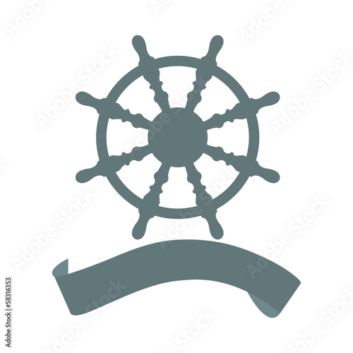 ship steering wheel  banner