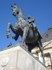 Statue of King Carol I, in Bucharest
