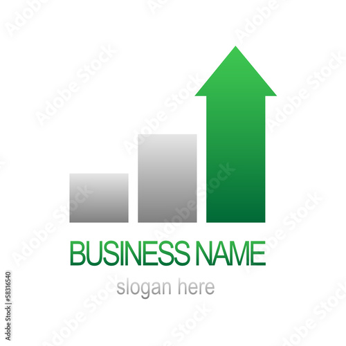 Growth Bar Chart BUSINESS LOGO (symbol icon performance)