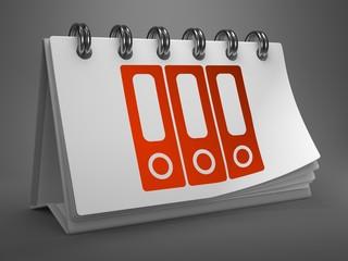Desktop Calendar with Data Concept.