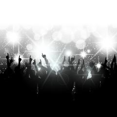 publikum vor buehne blendendes licht VIII