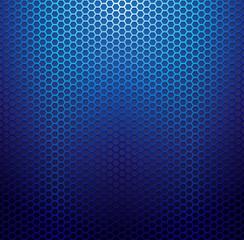 Blue metallic grid background