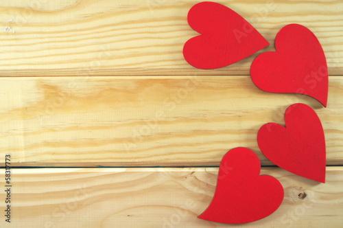czerwone serca