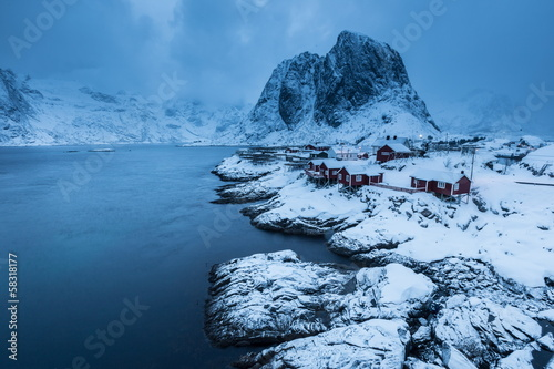 Plexiglas Antarctica 2 lofoten island during winter time