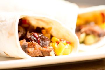 tortilla wraps closeup