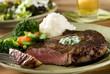 ribeye steak with vegetables