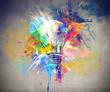 Leinwanddruck Bild - Colourful Light