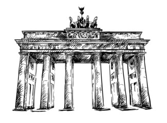 Brandenburg Gate. Vector sketch.