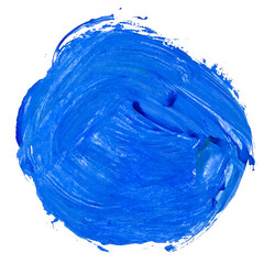 watercolor blue hand painted circle isolated shape design elemen
