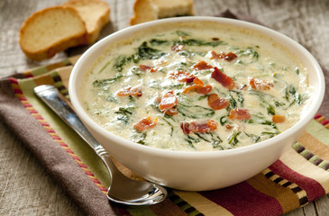 spinach and bacon dip.