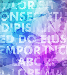 Abstract vector typography background