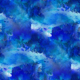 blue paint seamless watercolor texture with spots and streaks