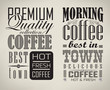Set of coffee , cafe typographic elements