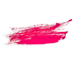 red pink watercolors spot blotch isolated