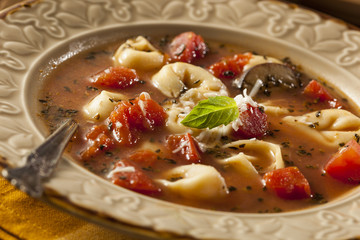 Rustic Homemade Tortellini Soup