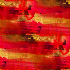 seamless painting red yellow orange watercolor blue with bright