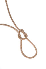 The original loop made ​​of sturdy rope for hanging.