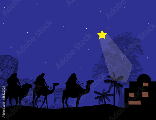 Three Kings and shining star