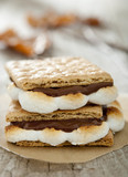 Freshly toasted s'mores.