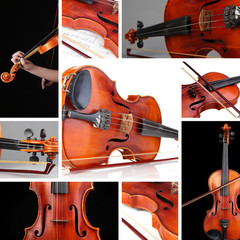 Collage of classical violin