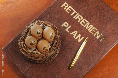 Leinwanddruck Bild Retirement Planning