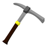 pick axe isolated illustration