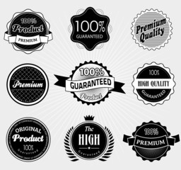 Set of Premium Quality and Guarantee Labels