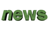 3d News white isolated background