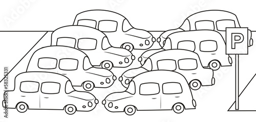 parking - coloring book