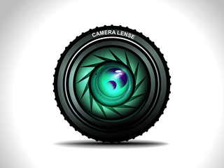 Vector Camera With Colorfull Lens