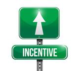 incentive road sign illustration design poster
