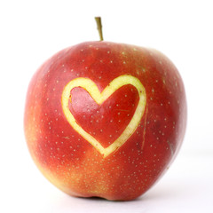 Apfel mit Herz 4