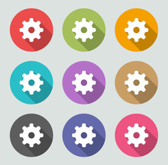 Settings Icon - Flat designs
