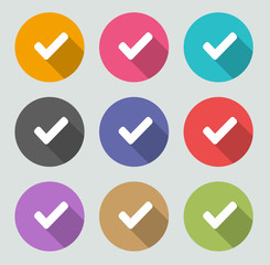 Check mark icon - Flat designs