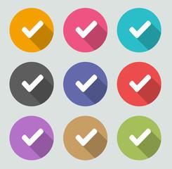 Check mark icon - Flat designs